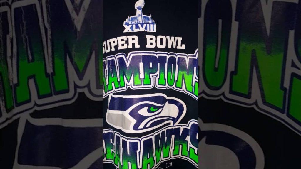 Seattle Seahawks Super Bowl 48 Blue Shirt Top NFL NFC West