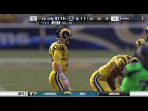 Madden 17 True Madden Gods league week 2 vs Seahawks
