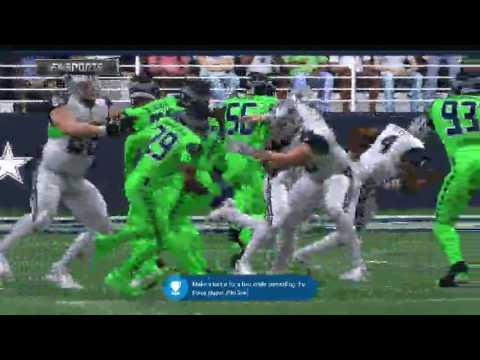 Madden 17 Seattle Seahawks vs Dallas Cowboys Color Rush