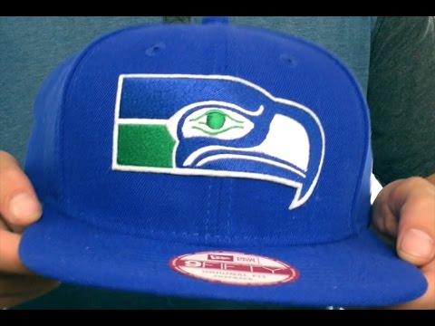 Seahawks 'RETRO-BASIC SNAPBACK' Royal Hat by New Era