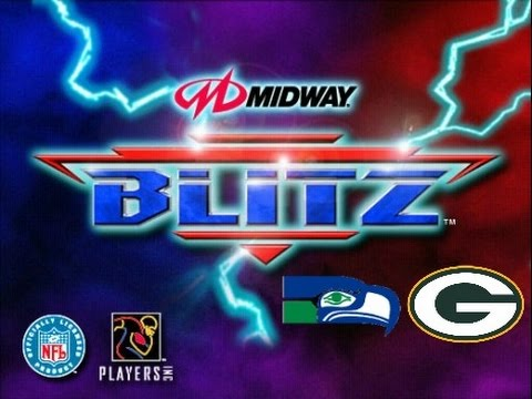 NFL Blitz PlayStation Gameplay – Seattle Seahawks vs. Green Bay Packers