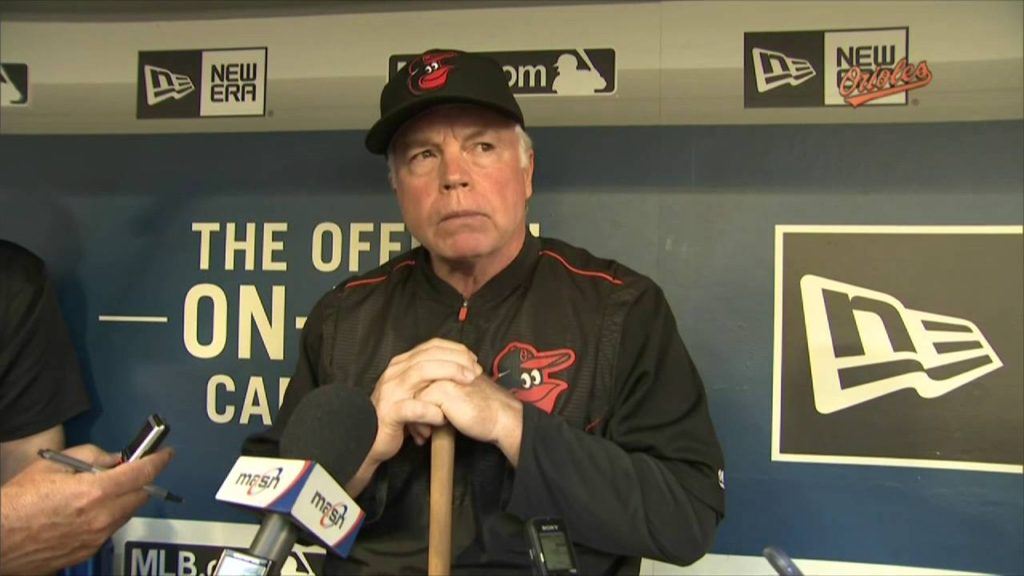 Buck Showalter talks before series vs. Mariners