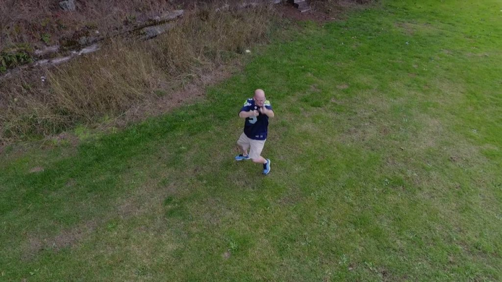 Drone VS Seahawks Super Fan – DJI Phantom 4 Active Track