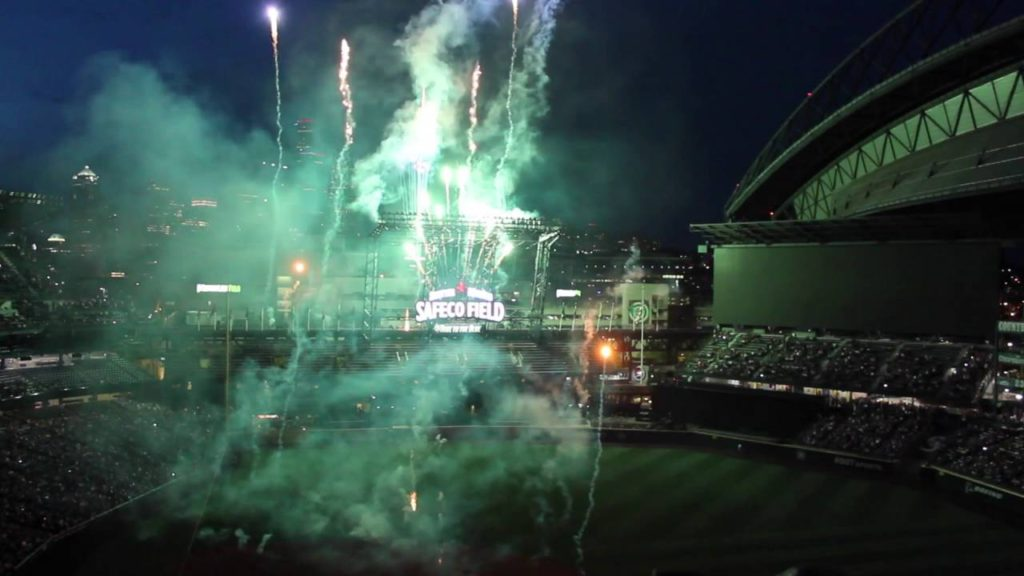 2016 Seattle Mariners Fireworks Night Patriotic Theme