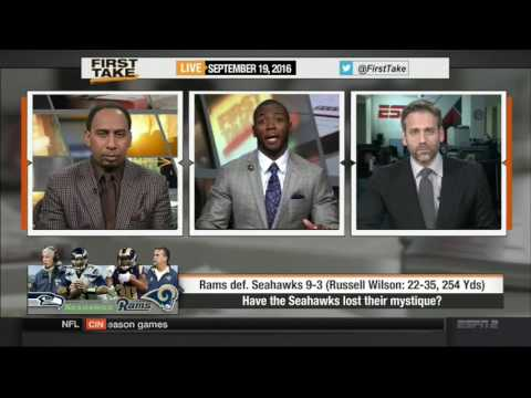 SEAHAWKS LOSE TO RAMS IN LOS ANGELOS ESPN FIRST TAKE