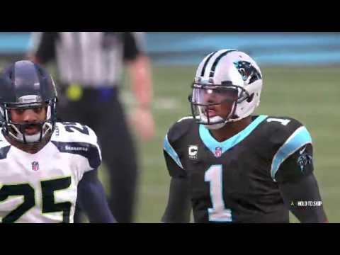 Madden 17 Seattle Seahawks vs Carolina Panthers
