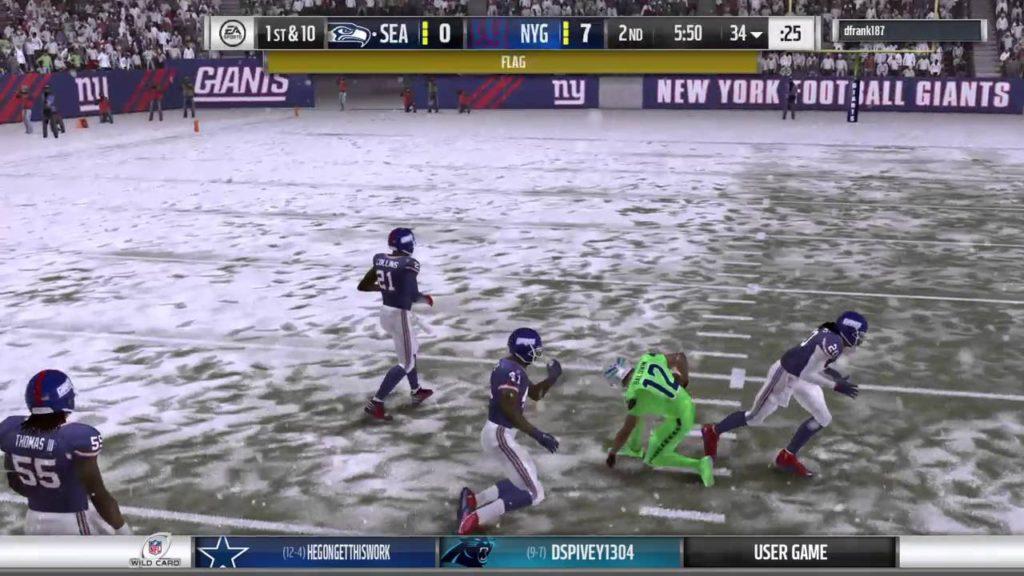 Giants vs Seahawks C32 Wild Card