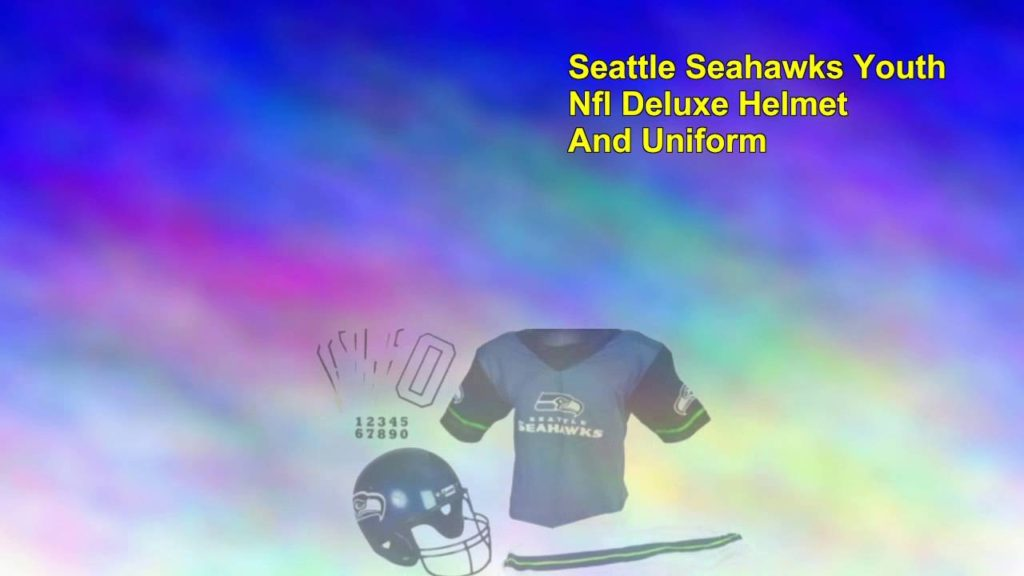Seattle Seahawks Youth Nfl Deluxe Helmet And Uniform