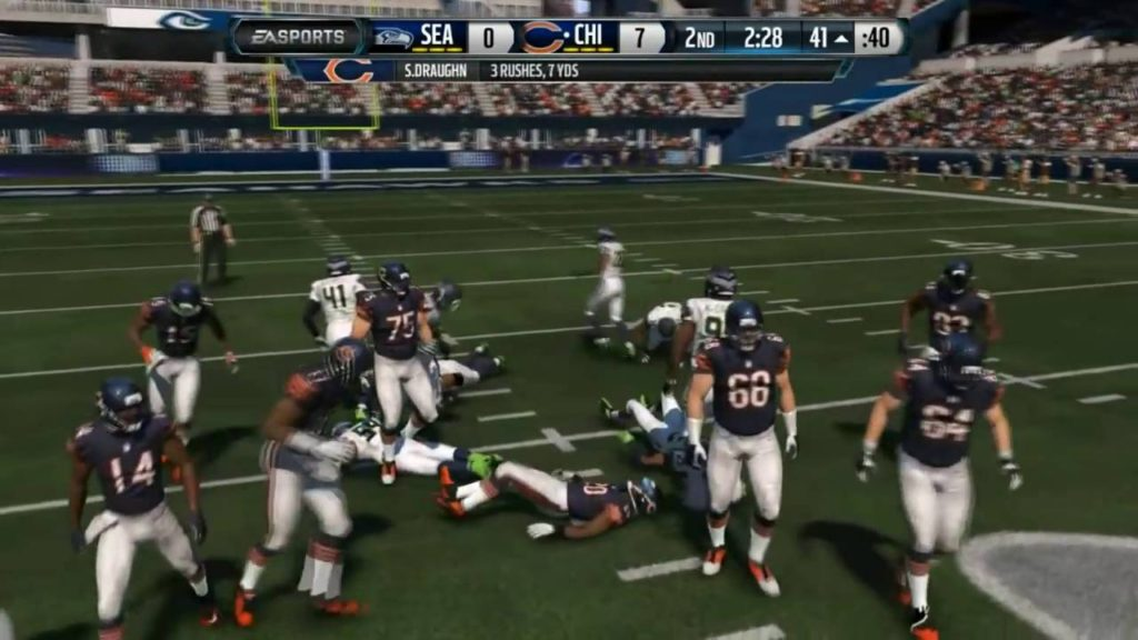 Football NFL Madden 15    No Adjustments    Bears Vs  Seahawks   Online Gameplay XboxOne   YouTube