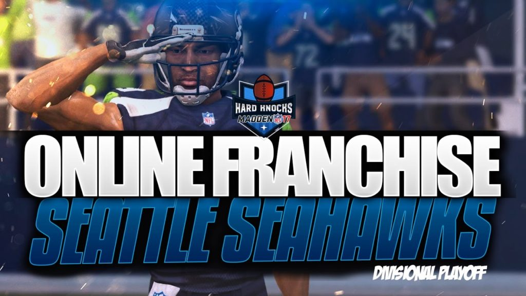 """Madden 17 Online Franchise Seahawks vs Falcons """"Hard Knocks Divisional Playoffs"""""""
