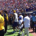 "Fans chant ""Kobe"" to LeBron James at Rams Game"