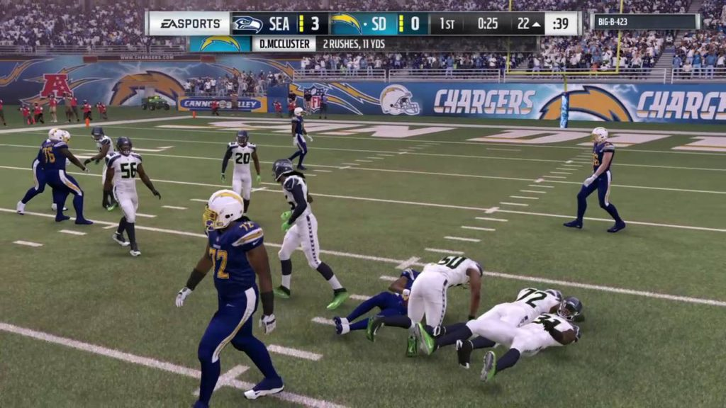 Madden NFL 17 chargers vs seahawks part 1