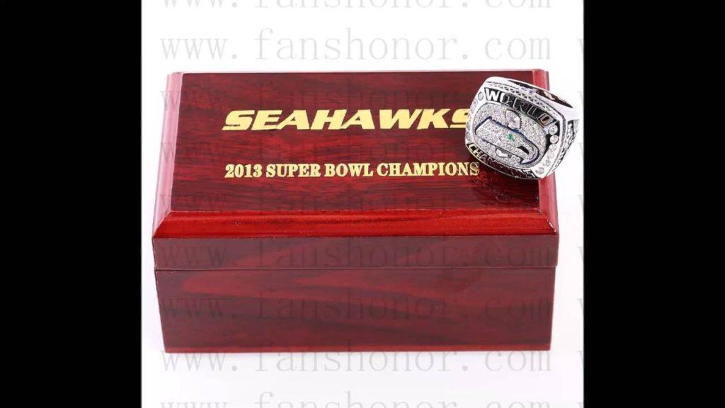 Custom NFL 2013 Super Bowl XLVIII Seattle Seahawks Championship Ring