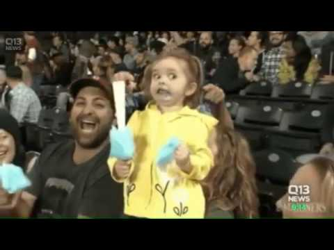 Little girl becomes online hit over cotton candy reaction