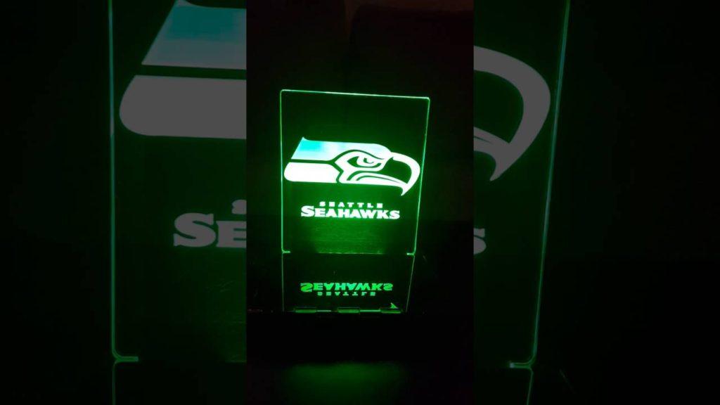 Seahawks Animated LED Desk Lamp