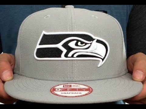 Seahawks 'NFL TEAM-BASIC SNAPBACK' Grey-Black Hat by New Era