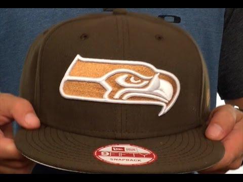 Seahawks 'TEAM-BASIC SNAPBACK' Brown-Wheat Hat by New Era