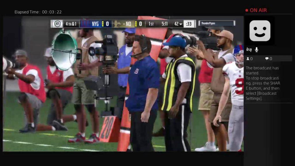 Madden 17 NFL New York Giants vs Seattle Sehawks