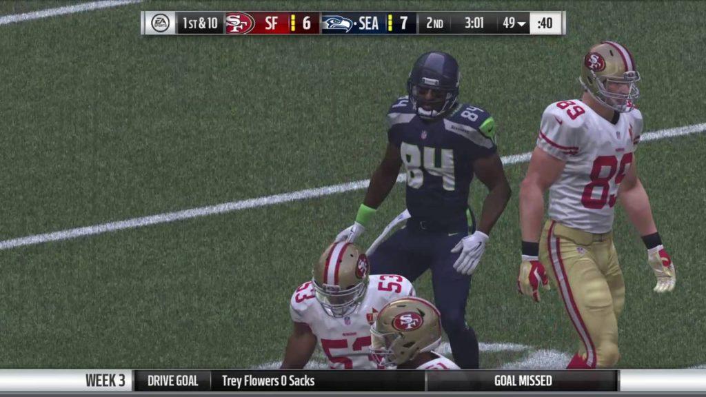 49ers vs Seahawks   Madden 17