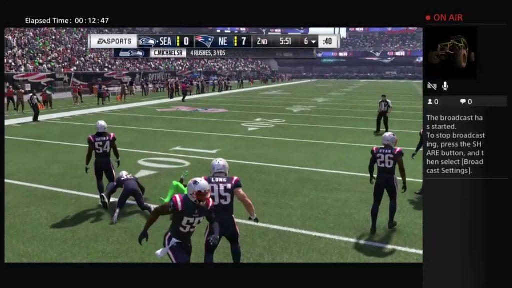 Madden 17 :Patriots vs Seahawks