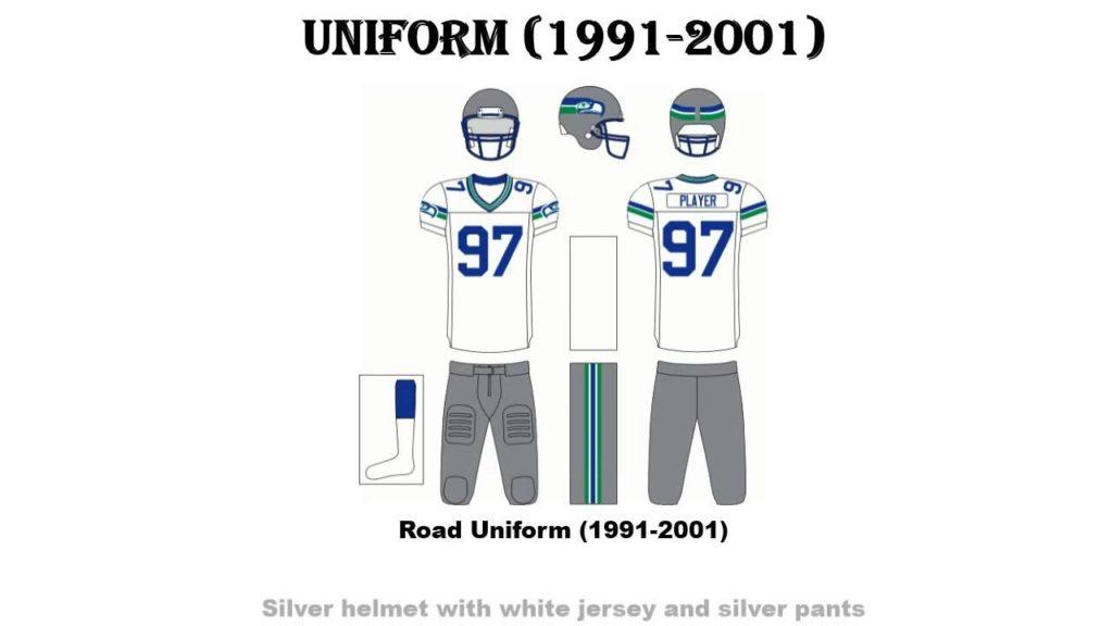 Seahawks Road Uniform   Seattle Seahawks All Road Uniform From Start