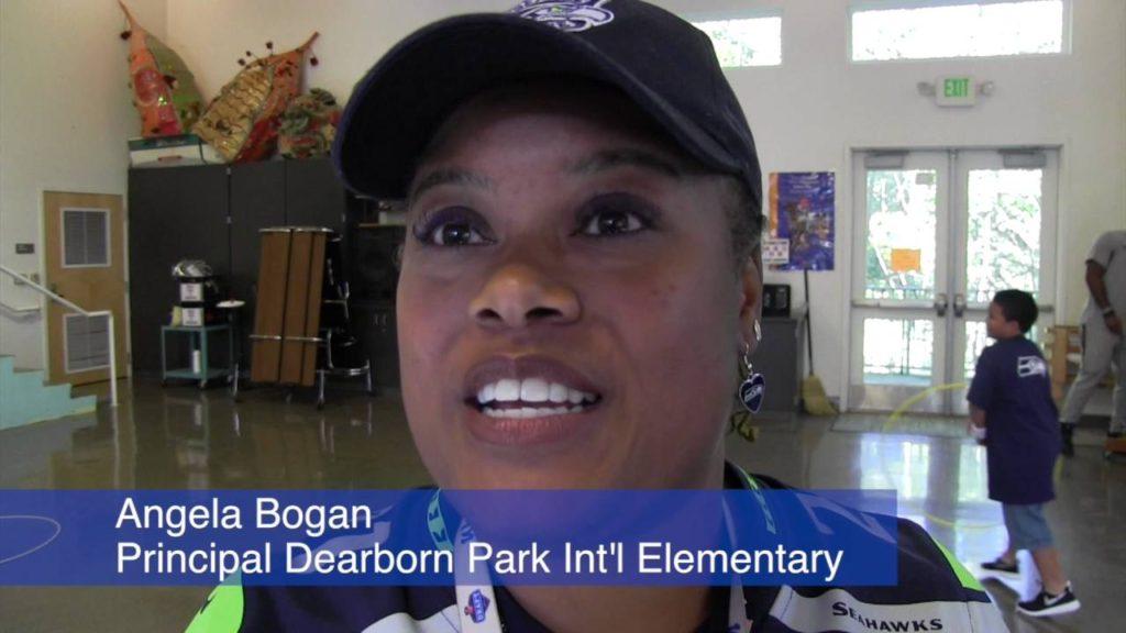 Seahawks Visit Dearborn Park 2016