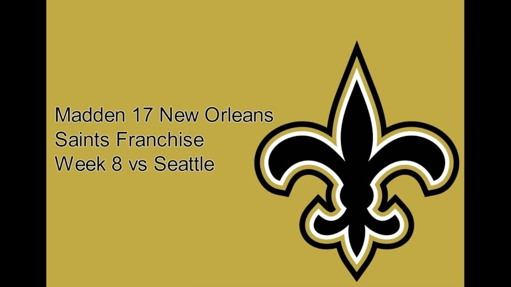 Madden 17 New Orleans Saints Franchise Week 8 vs Seattle