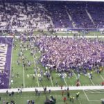 2016 UW Huskies upset Stanford and fans rush the field