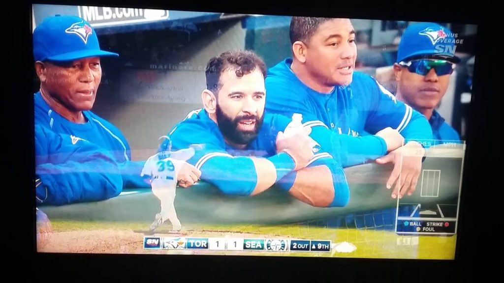 Bautista home run in Seattle in front of awesome home crowd Sept 21 2016