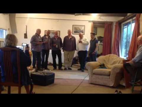 Mariners Away singing for Britannia at Gweek