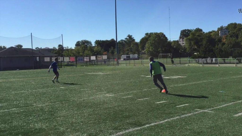 Soccer Crossing & Finishing Exercise