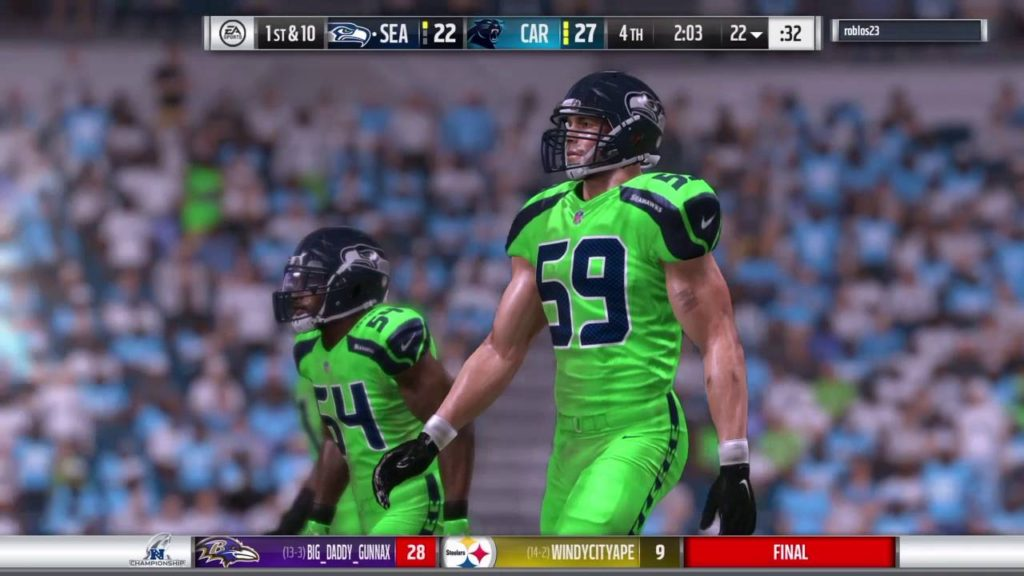 Last 15mis Seahawks v Panthers