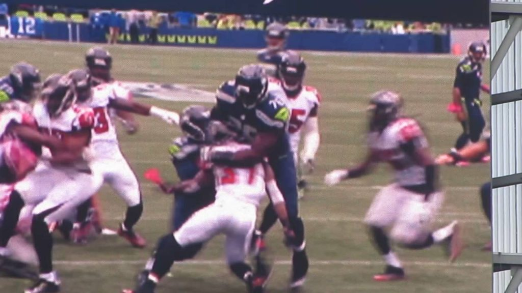 Seahawks vs Falcons 24 26 Victory Oct 16, 2016 [Christine Michael's TouchDown!  7-0]