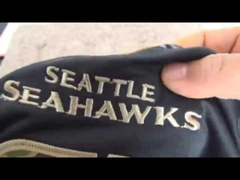 Seattle Seahawks #3 Wilson Black Salute TO Service Jersey Kids