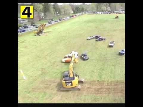 Cars Playing Football
