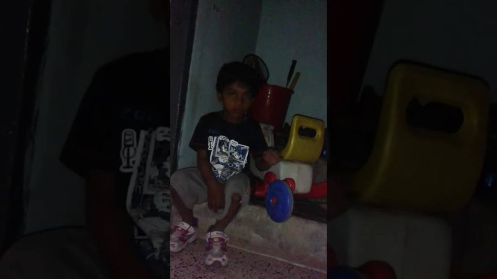 Cute boy – Arjun (Oggy) asking his Uncle to play with him football
