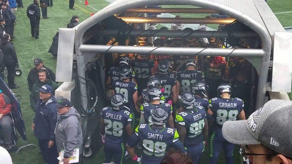 Seattle Seahawks Introductions vs The Atlanta Falcons 10/16/16.