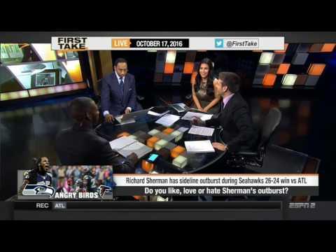 ESPN FIRST TAKE 10 17 2016 SEAHAWKS DOWNPLAY RICHARD SHERMAN'S MELTDOWN