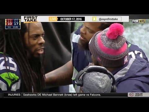 ESPN First Take – Seahawks Downplay Richard Sherman's Meltdown