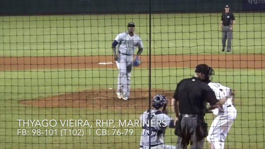 Thyago Vieira, RHP, Mariners (10-15-2016) – Peoria Javelinas, Arizona Fall League