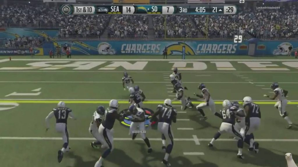 Madden 16-Beast Mode Unstoppable! :: Chargers Vs. Seahawks – XBOX ONE Madden NFL 16 Online Gameplay