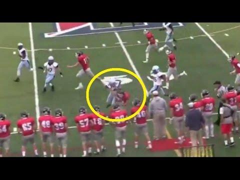 Watch: Female High School Football Kicker's Monster Tackle of a Return Man