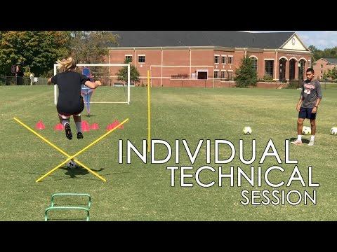 Individual Technical Soccer Drills – Dribbling – Shooting