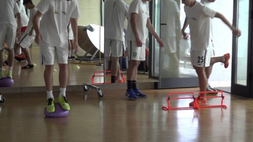 Propriception exercises for soccer players