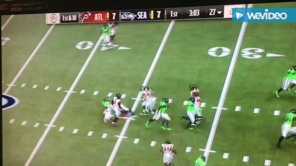 Falcons vs Seahawks highlights Madden 17