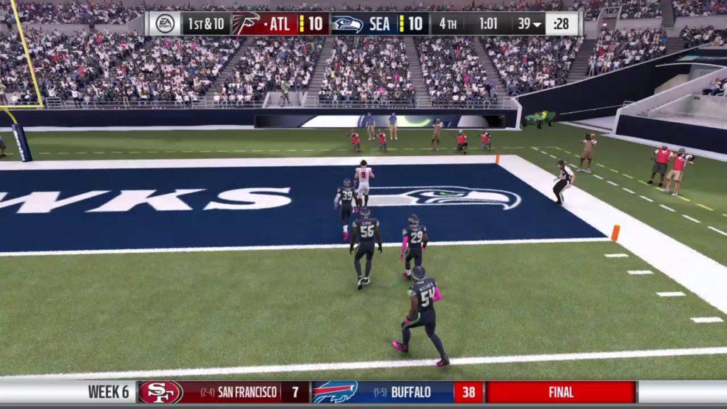 Matt Pair TD run vs Seattle Seahawks