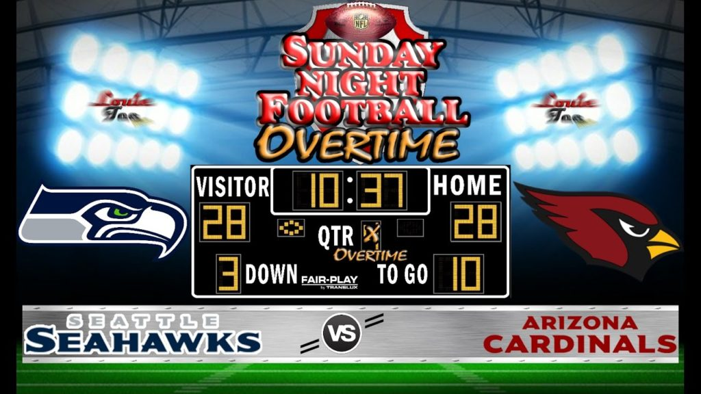 NFL Football 2016 Recap: SNF OVERTIME WK 7: Seahawks vs. Cardinals #LouieTeeLive