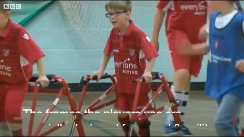 Club helps children with cerebral palsy play football