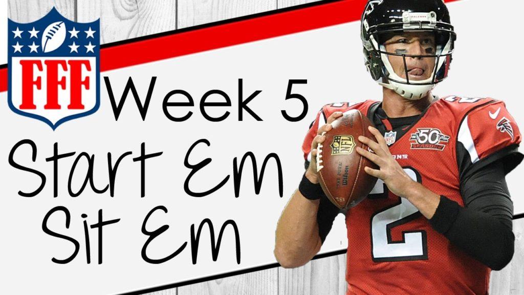 Week 5 Start'Em Sit'Em – 2016 Fantasy Football