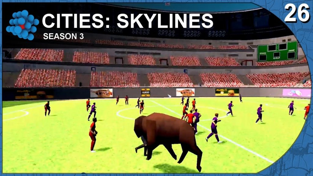 Cities: Skylines – Paradise Island – S03E26 – Bison can play football too